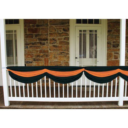 Orange and Black Fabric Bunting