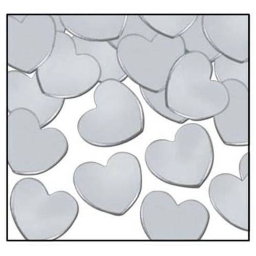 Silver Hearts Confetti