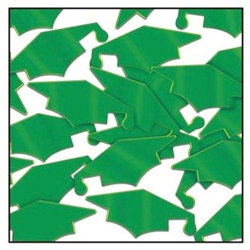 Green Grad Caps Confetti