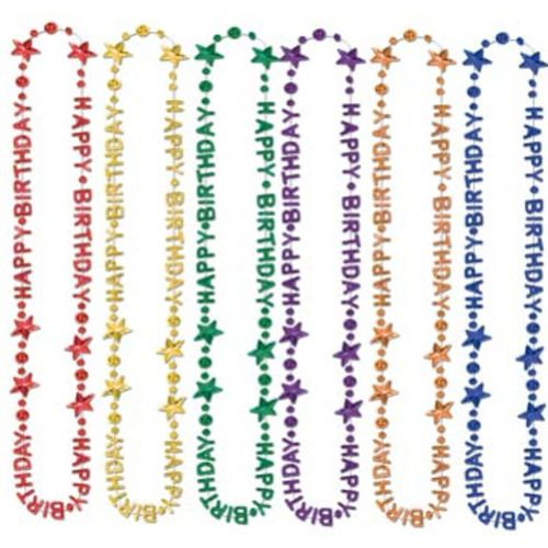 Happy Birthday Bead Necklaces