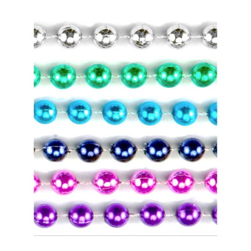 Assorted Color Metallic Bead Necklaces