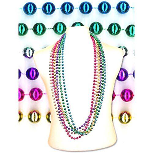 "72"" Metallic Bead Necklace"