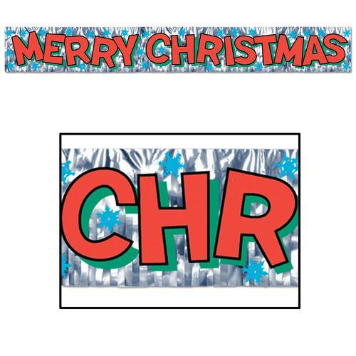 Metallic Merry Christmas Banner