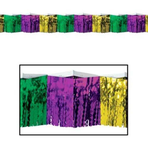 Green, Gold, and Purple Diamond Fringe Drape