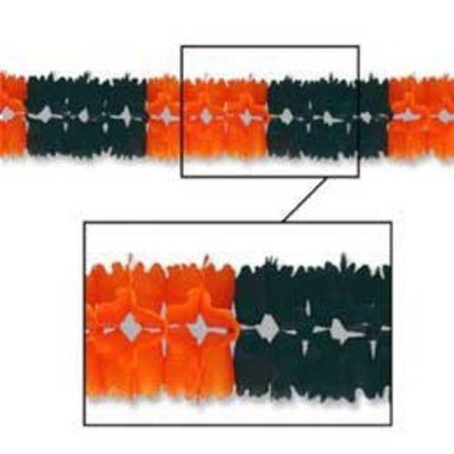 Orange-Black Pageant Garland