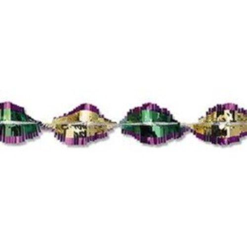 Green-Gold-Purple Metallic Twirl Festooning