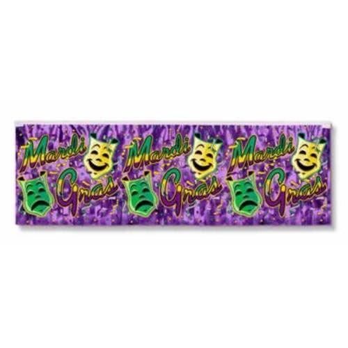 Metallic Mardi Gras Banner