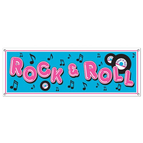 Rock and Roll Sign Banner