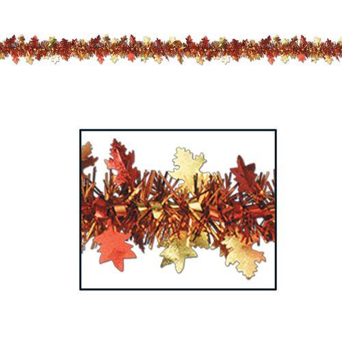 Metallic Autumn Leaves Garland