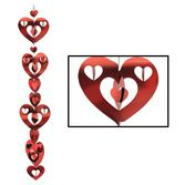 Valentine's Day Decorations 3D Prismatic Heart Garland Image