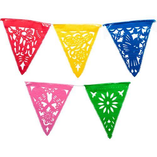 Festive Plastic Pennant Banner