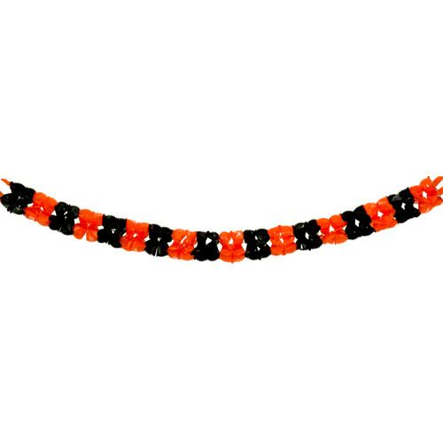 Orange and Black Plastic Garland