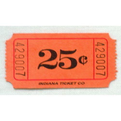 Orange 25 Cent Ticket Roll