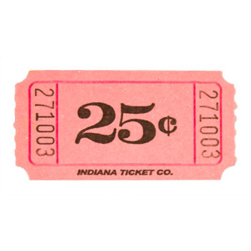 Pink 25 Cent Ticket Roll
