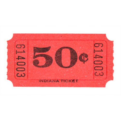 Red 50 Cent Ticket Roll