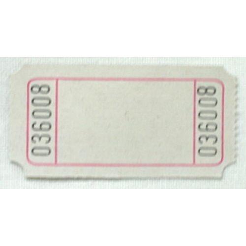White Blank Ticket Roll