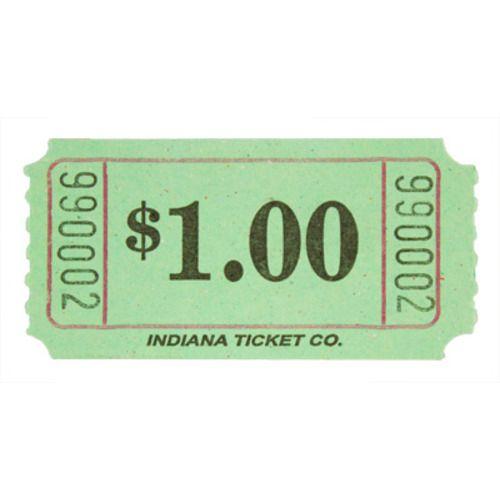 Green Dollar Ticket Roll