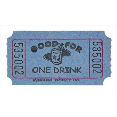 Blue Drink Ticket Roll