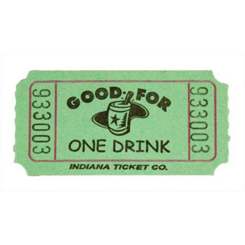 Green Drink Ticket Roll