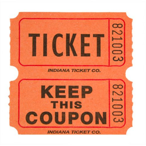 Orange Double Ticket Roll