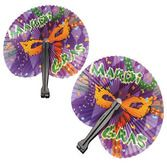Mardi Gras Favors & Prizes Mardi Gras Folding Fans Image