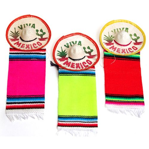 "3"" Mexico Sombrero with Serape"
