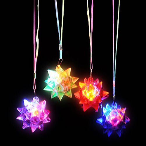 Crystal Star Ball Flashing Necklace