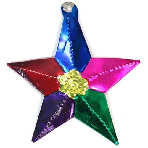 Five Point Star Tin Ornament