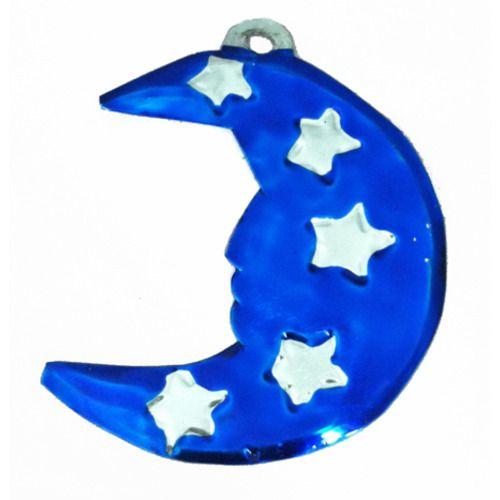 Half Moon Tin Ornament