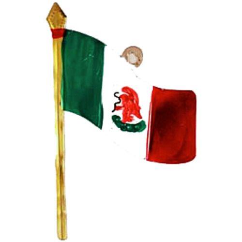 Mexican Flag Tin Ornament