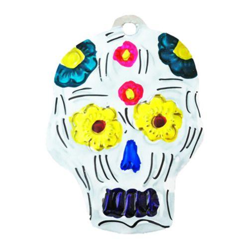 Sugar Skull Tin Ornament