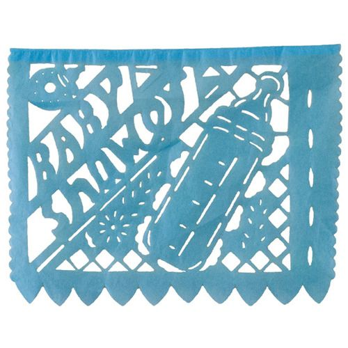 Large Boy Baby Shower Paper Picado Banner
