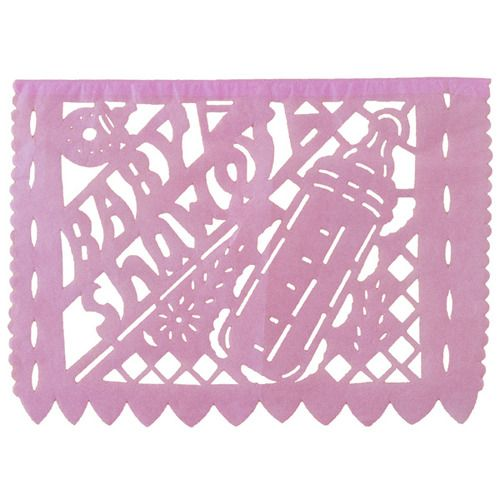 Large Girl Baby Shower Paper Picado Banner