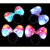 Glow Lights Polka Dot Lite Up Bow Headband Image