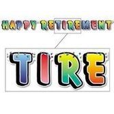 Retirement Decorations Happy Retirement Streamer Image