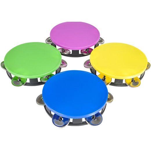 Cinco de Mayo Favors & Prizes Neon Tambourine Image