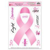 Decorations / Cutouts Pink Ribbon Clings Image