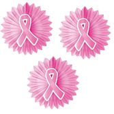 Decorations Pink Ribbon Tissue Fan Bursts Image