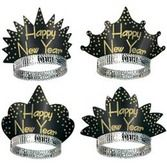 New Years Hats & Headwear Black & Gold Headliner Tiara Image