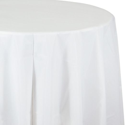 Wedding Table Accessories Round Table Cover White Image