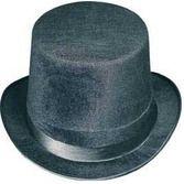 New Years Hats & Headwear Black Felt Top Hat Image