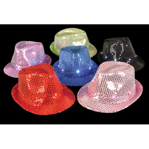Cinco de Mayo Glow Lights Light Up Sequin Fedora Image