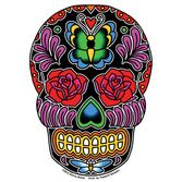 Day of the Dead Favors & Prizes Butterfly Sugar Skull Sticker Image