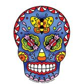 Day of the Dead Favors & Prizes Candy Sugar Skull Sticker Image