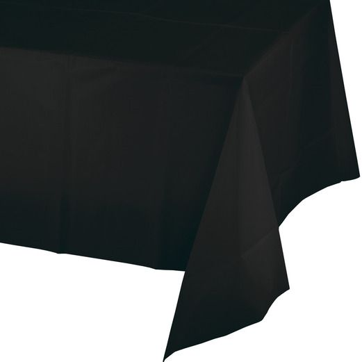 New Years Table Accessories Rectangular Table Cover Black Image