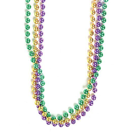Green, Gold, Purple Metallic Bead Necklaces