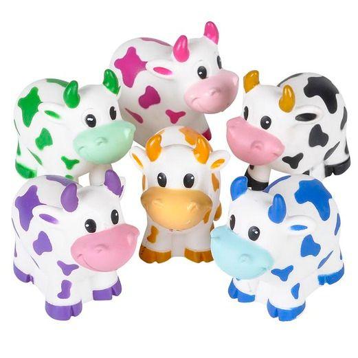 Favors & Prizes Mini-Rubber Cows Image