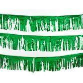 St. Patrick's Day Decorations 30' Green Metallic Fringe Banner Image