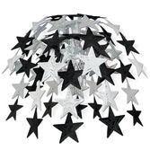 New Years Decorations Black-Silver Star Cascade Image