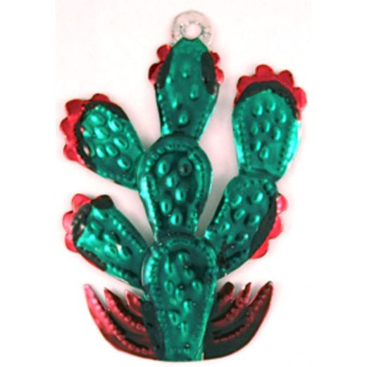 Cinco de Mayo Decorations Cactus Tin Ornament Image